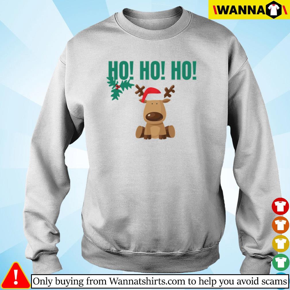 Reindeer Santa hat Ho Ho Ho Christmas sweater