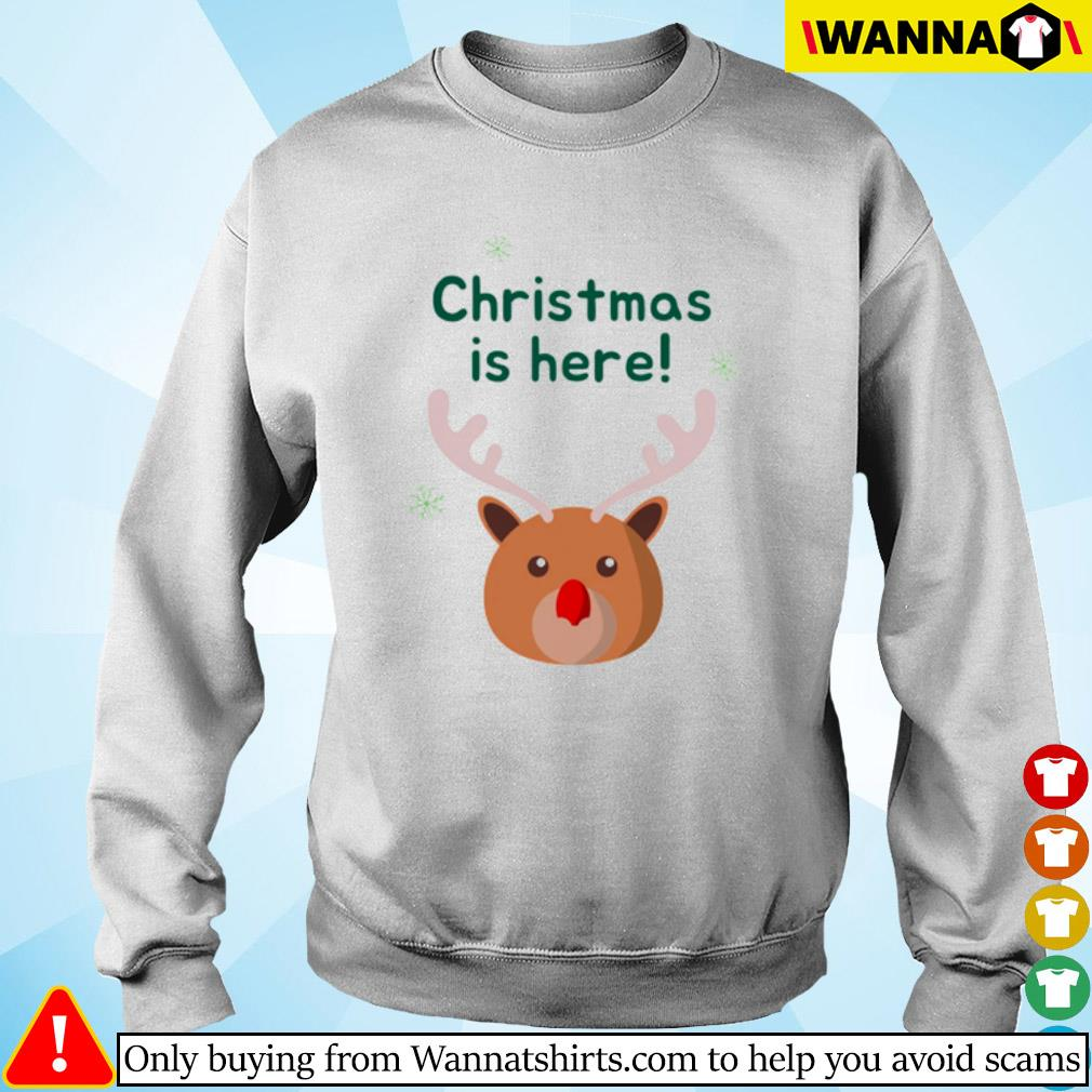Rudolph merry Christmas is here sweater