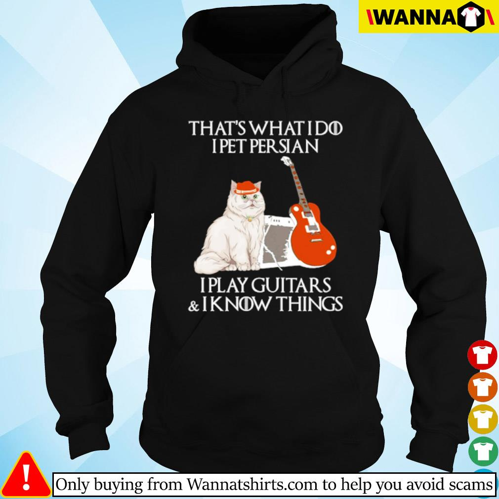 That's what I do I pet Persian I play guitars and I know things s Hoodie